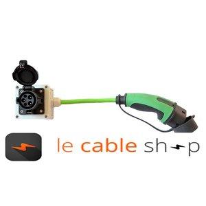 Ratio Câble adaptateur Type 1 mâle - Type 2 femelle (0,5 mètre)