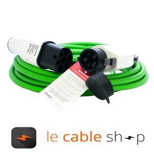 Ratio Câble de recharge véhicule électrique 32A Monophasé Type 2 - Type 1 (4 mètres)