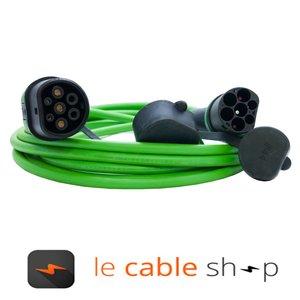 Ratio Câble de recharge véhicule électrique 16A Monophasé Type 2 - Type 2 (6 mètres)