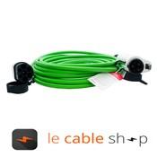 Ratio Câble de recharge véhicule électrique 16A Monophasé Type 2 - Type 1 (8 mètres)