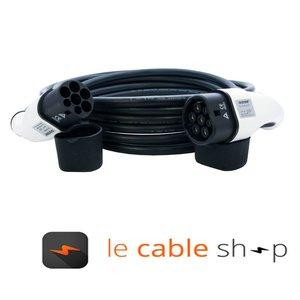 DOSTAR Câble de recharge véhicule électrique 32A Monophasé Type 2 - Type 2 (6 mètres)