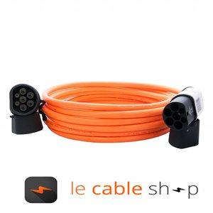 DUOSIDA Câble de recharge véhicule électrique 16A Monophasé Type 2 - Type 2 (6 mètres)