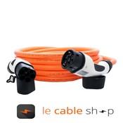 DOSTAR Câble de recharge véhicule électrique 32A Triphasé Type 2 - Type 2 (6 mètres)