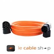 DOSTAR Câble de recharge véhicule électrique 16A Triphasé Type 2 - Type 2 (6 mètres)