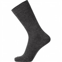 Klassieke sok zonder elastiek antraciet