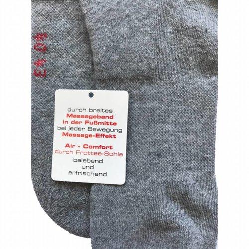Kock Sockswear 2-pack sneakersokken met badstof en massageband grijs