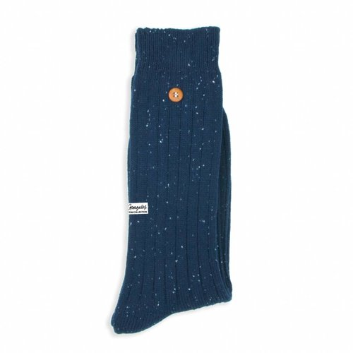 Alfredo Gonzales Speckled Cotton Navy