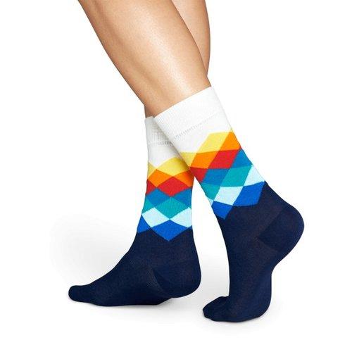 Happy Socks Sokken met diamantvormig patroon