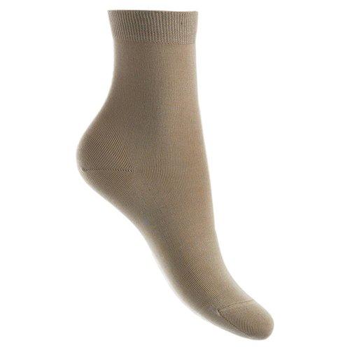 Bonnie Doon Basic Naadloze Sokken Cotton Sand