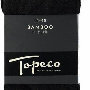 Topeco 4-pack Bamboe effen Zwart