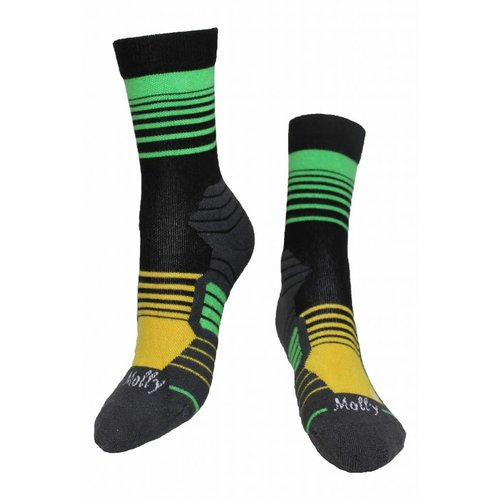 Molly Socks Stripes Brazil Wandelsokken