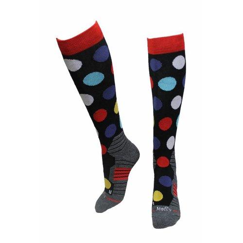 Molly Socks Dots Skisokken