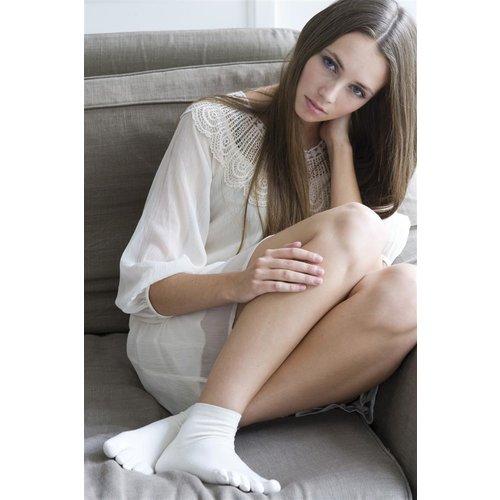 Bonnie Doon Plain Toe Sock Wit