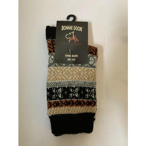 Bonnie Doon Folkloric Sock Black