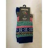 Folkloric Sock Tech Blue