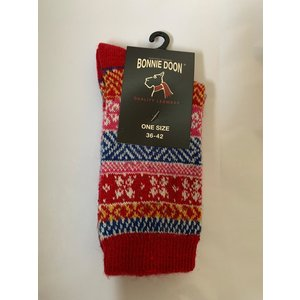 Bonnie Doon Folkloric Sock Strawberry