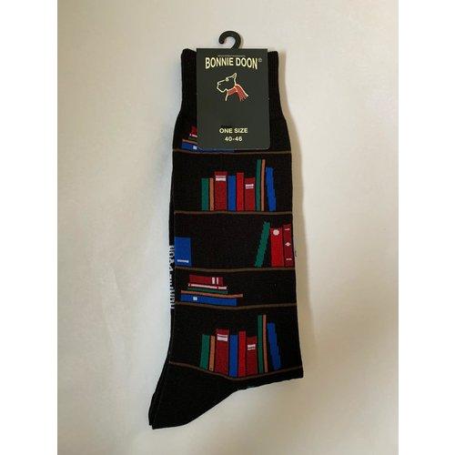 Bonnie Doon Bookshelf Sock Black