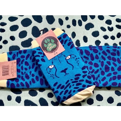 MySokkies Blue Cheetah