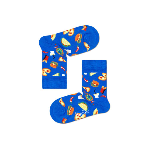 Happy Socks Junk Food Kids Blue