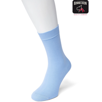 Lichtblauw Katoenen Dames Sok Bonnie Doon