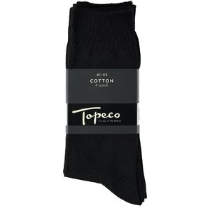 Topeco Zwart 4-pack Katoen Heren Topeco