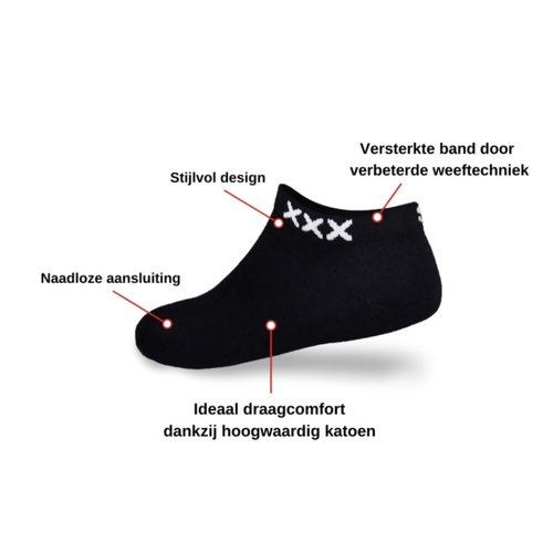 SOLIT Socks Original Amsterdam Zwart Sneakersok