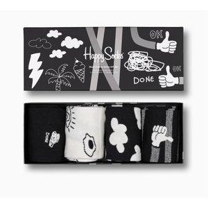 Happy Socks Black & White Socks Gift Set