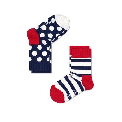 Happy Socks 2-pack Stripes & Dots Kids