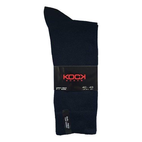 Kock Sockswear 2-pack naadloze herensokken marine blauw