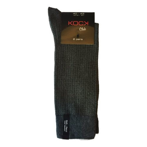 Kock Sockswear 2-pack naadloze herensokken gedessineerd olive