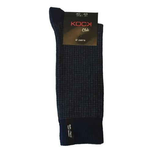 Kock Sockswear 2-pack naadloze herensokken print blauw