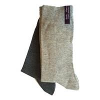 2-pack naadloze damessokken grijs-licht grijs
