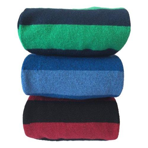 Kock Sockswear 2-pack naadloze gestreepte herensokken marine-groen
