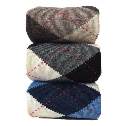 Kock Sockswear 2-pack naadloze herensokken argyle grijs