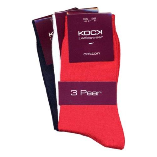 Kock Sockswear 3-pack naadloze damessokken maritiem