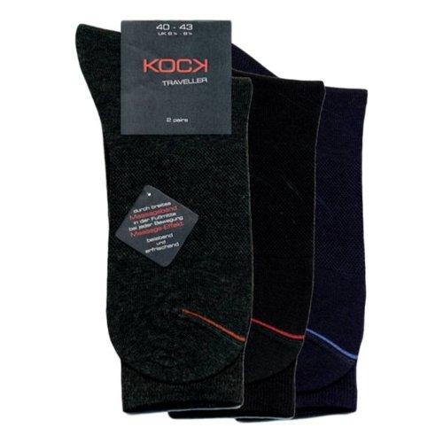 Kock Sockswear 2-pack zwarte naadloze sokken met massage-effect