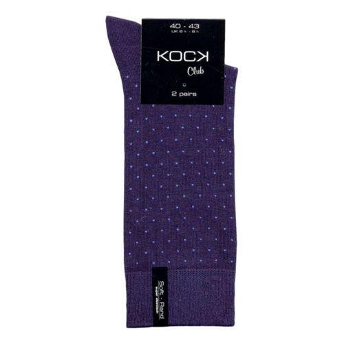 Kock Sockswear 2-pack naadloze herensokken stippen blauw