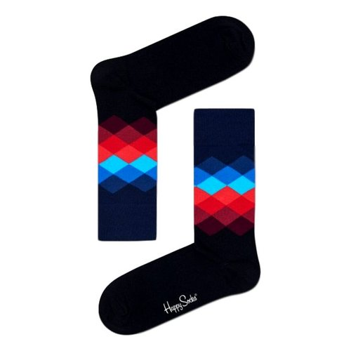 Happy Socks Faded Diamond zwart