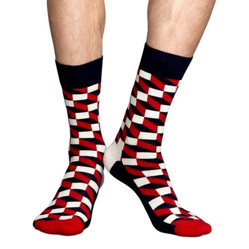 Happy Socks Sokken met optische print