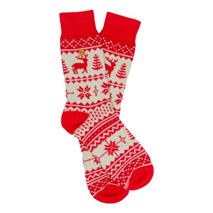 Alfredo Gonzales Northern Pixels Reindeer Red Beige