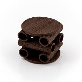 Garneleninsel runde Plattform schwarz / braun