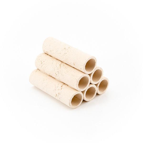 Garnelenmarkt 6er Röhrenstapel weiss mit Muster