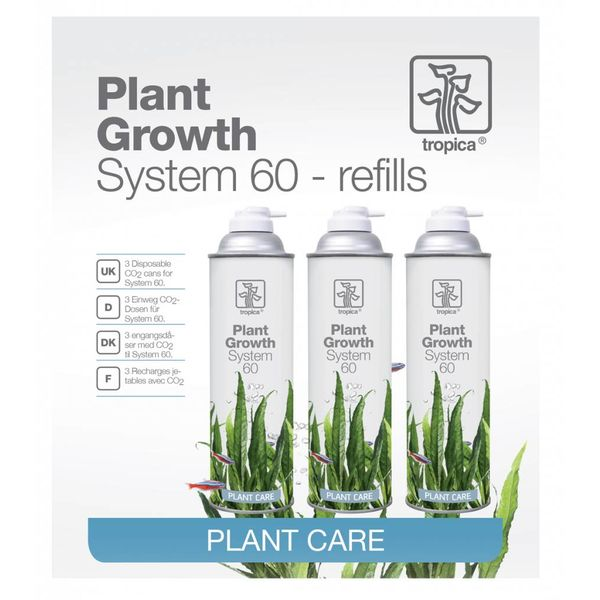 Tropica CO2 system 60 Nachfüll-Packung 3er Pack