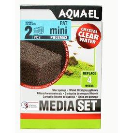 Aquael Filterschwamm mit Phosmax gegen Algen für Pat Mini doppel Pack