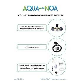 Aqua Noa CO₂ Set Einweg&Mehrweg 400 Profi M