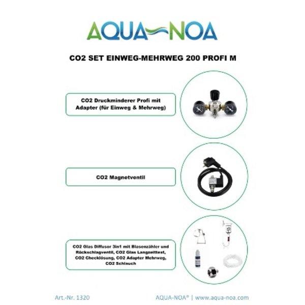Aqua Noa CO₂ Set Einweg&Mehrweg 200 Profi M