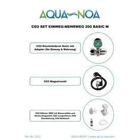 Aqua Noa CO₂ Set Einweg&Mehrweg 200 Basic mit Magnetventil