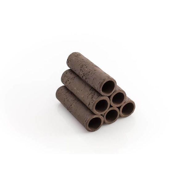 Garnelenmarkt 6er Röhrenstapel braun/schwarz mit Muster