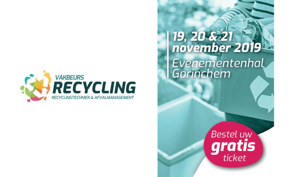 Bezoek ons op Vakbeurs Recycling 2019