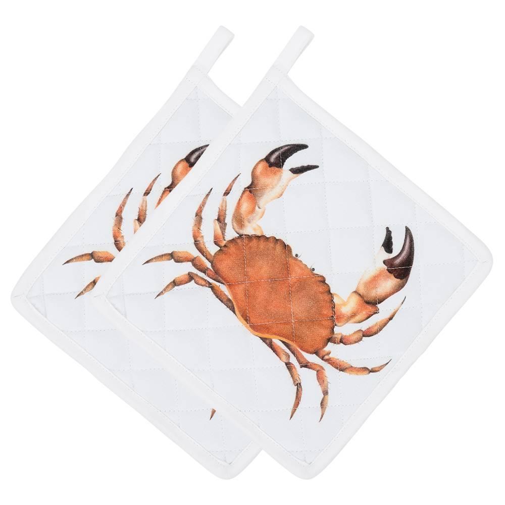 Satz von 2 Topflappen mit einer Krabbe